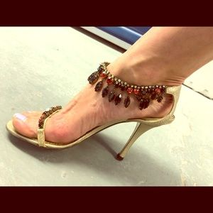 Emilio Pucci AUTHENTIC embellished fancy heels